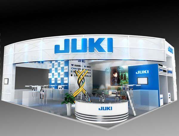 世星电子展台设计作品,展台整体结构简单,采用的白色和蓝色相关点辍